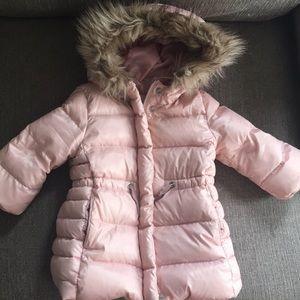 GAP 12-18 Months Rose Pink Down Puffer Coat